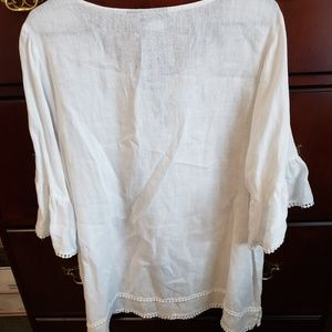 Tahari Tops - Tahari White Linen Top